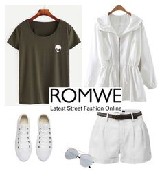 """Roswell"" by patricia-dimmick ❤ liked on Polyvore featuring LE3NO, Converse and romwe"