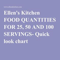 Quick look chart Recipe For 50 People, Recipe For 100, The Chew Recipes, Crowd Recipes, Wedding Dinner, Dinner Menu, Dinner Parties, Cooking For A Crowd, Food For A Crowd