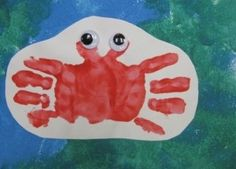 Summer crab handprint craft