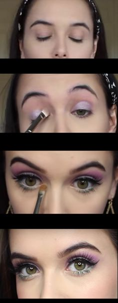Makeup Tutorials for Green Eyes -Spring Makeup Tutorial Purple & Mint Green Eyes -Easy Eyeshadow Video and Tutorial Ideas - Natural Everyday Step by Step Beauty Tricks - Simple Looks for Night and Day thegoddess.com/makeup-tutorials-green-eyes
