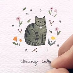 Rate this art 👉More art: Valid tag: Artist: ⠀ Liquid Watercolor, Watercolor Paintings, Watercolor Techniques, Painting & Drawing, Kitten, Illustration Art, Drawings, Artist, Inspiration