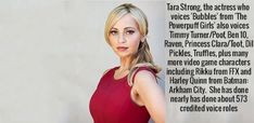 Fascinating Facts, Interesting Facts, Tara Strong, Arkham City, Video Game Characters, Powerpuff Girls, Fun Facts, Actresses, Female Actresses