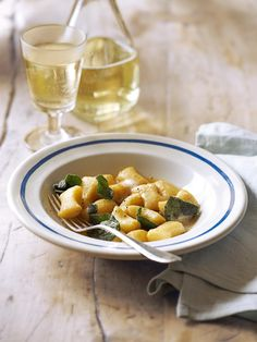 Butter, sage and a squeeze of lemon is all you need to make this simple, flavour-packed gnocchi recipe. You can use shop-bought gnocchi or make your own. Sage Recipes, Gnocchi Recipes, Pasta Recipes, Cooking Recipes, Sicilian Recipes, Delicious Magazine, Savoury Dishes, Food For Thought, Pasta Dishes
