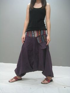 Harem pants. idea for long brown skirt I never wear