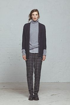 Steven Alan Womens Fall 2013: Simona Cardigan / Terrence Turtleneck Sweater / Silk James Pant