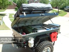 Badass Off Road Trailer Designs and Pictures 5 - Awesome Indoor & Outdoor Kayak Trailer, Off Road Camper Trailer, Trailer Diy, Small Trailer, Trailer Plans, Trailer Build, Camper Trailers, Small Camping Trailer, Box Trailer