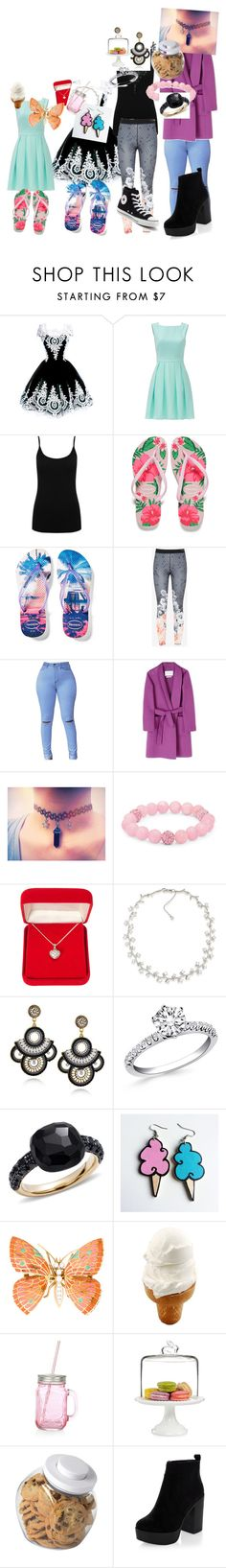 """Made by my 6 year old cousin"" by dj1direction ❤ liked on Polyvore featuring Kate Spade, M&Co, Havaianas, Ted Baker, MaxMara, Palm Beach Jewelry, Alexa Starr, Carolee, Pomellato and Junk Food Clothing"