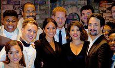 Meghan, Duchess of Sussesx and Prince Harry, Duke of Sussex join Lin-Manuel Miranda and the cast and crew of 'Hamilton' at the gala performance in support of Sentebale at Victoria Palace Theatre on August 2018 in London, England