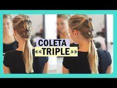 Peinado fácil para ir a clase o al trabajo: Coleta triple