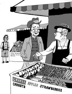 The Scene Cartoon - Foreign fruit sale, July 6, 2013