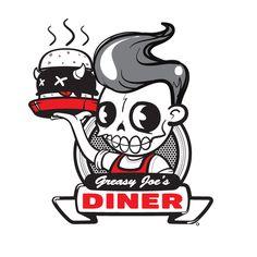 Greasy Joe's Diner Logo  by *projekt-alpha  Designs & Interfaces / Logos & Logotypes©2011-2012 *projekt-alpha