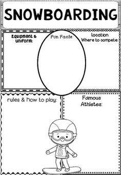 Winter Sports Print and Go! ~20 ELA & Math Printables PLUS