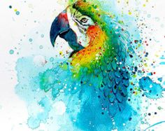 Parrot • watercolor painting • A4 • A3 • art print