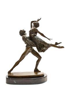 Dancing Couple Bronze Sculpture