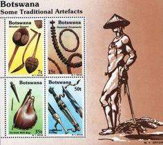 Sello: Fdc (Botswana) (Local artifacts) Mi:BW BL16,Sn:BW 336a,Yt:BW BF16