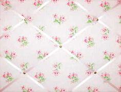 Medium Cath Kidston Textured Rose Hand Crafted Fabric Notice  Pin