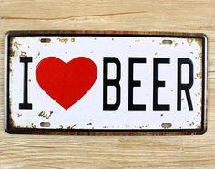 Métal signes Tin plaques d'immatriculation vintage forgé fer Garage affiche Bar café décoration murale de la bière 15 * 30 CM livraison gratuite(China (Mainland))