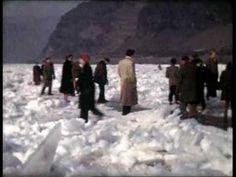 Der Rhein 1954 zugefroren