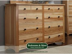 Experience the hand-crafted durability of Amish Heritage styling and construction, even if you live far from Amish Country. The Adamstown 8 Drawer Dresser by A-America is constructed out of American Hickory with solid black walnut inlays.  Pairs with the Adamstown Bed. We'll ship to you! Call us in Seattle at Bedrooms & More: 1-888-297-8844