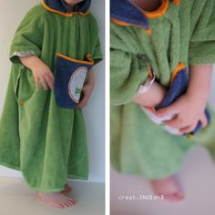 Badeponcho aus altem Exemplar / Poncho reloaded / Upcycling