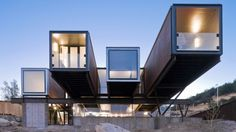 The latest shipping container-based home to grab our attention is the Caterpillar House, by Chilean architect Sebastián Irarrázaval.