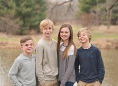 Teen sibling posing
