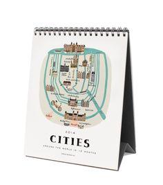 2014 Flip Around the World Desk Calendar