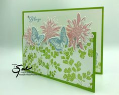 Stamp With Sue Prather Fun Fold Cards, Folded Cards, Butterfly Images, Leaf Images, Wink Of Stella, Ink Stamps, Positive Thoughts, Your Cards, Stampin Up