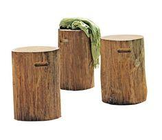 Taburete de madera de teka