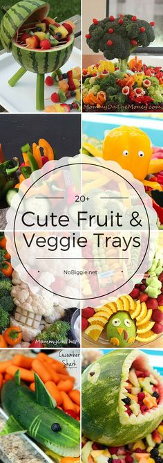 Cute fruit and veggie trays - a great fun way to feed a crowd. : Cute fruit and veggie trays - a great fun way to feed a crowd. Grilled Fruit, Grilled Vegetables, Fruits And Veggies, Veggie Platters, Food Trays, Fruit Trays, Meat Trays, Fruit Dips, Fruit Kabobs