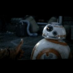 Star Wars VII - The Force Awakens / Finn and BB-8<----- one of my favorite scenes!<<<Omg yes!!!! I laughed so hard!!!