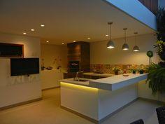 Varanda Gourmet com Ilha com Iluminação Led