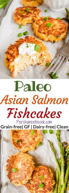 Paleo Asian Salmon Fishcakes (GF) | Perchance to Cook, www.perchancetocook.com
