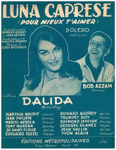 DALIDA - LUNA CAPRESE (POUR MIEUX T AIMER) - 1953 - ORIG. FRANZ. MUSIKNOTE