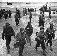 04 Jul 44: Day 29 of 81 in Operation OVERLORD, the D-Day invasion of Normandy, France. Troops and supplies continue to pour in, including US nurses assigned to field hospitals to care for wounded soldiers.