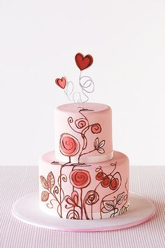 Statement Wedding Cakes: Whimsical from Kiss Me Cake