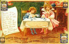 Vintage Ad,,,White House Tea