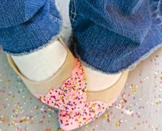 How to make your shoes look like birthday cake with faux frosting and sprinkles! » Debi's Design Diary