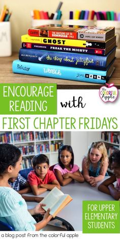 Want to expose your students to a wider variety of books?  Try First Chapter Fridays!  Simply read aloud the first chapter of a novel and leave your students hanging.  Their interest will be piqued and they'll want to read more!  Check out this blog post to get started in your upper elementary classroom.  Includes a free book list for 5th grade to get you started!