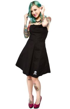 SOURPUSS PIN ME UP SWING DRESS