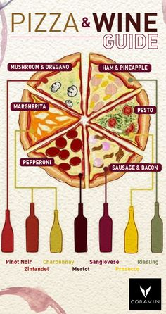 From plain to pesto, there's a vino for every pizza topping. (Side note: Hawaiian pizza is YUM and any objections can be shared here.)