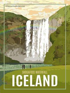 Iceland  Vintage Travel Poster #vintagetravelposters