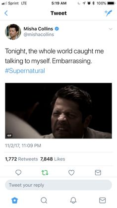 Misha is such an amazing actor, Jimmy, Meta! Misha, Leviathan!Cas, Casifer, Cas, and now this one are all completely different. I almost forget that it's the same actor every time