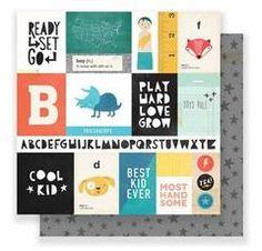 "Crate Paper Cool Kid - Run & Jump 12""X12"" Pattern Paper"