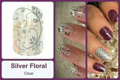 #SilverFloralJN Shop at https://jamminmomma79.jamberry.com/ #angiesjammies #manicure #naildesign #nailart #nailwraps #nails #diy