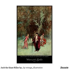 Poster - Jack the Giant Killer by Warwick Goble from 'The Fairy Book' (1913)
