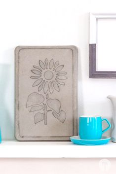 Got some leftover cement from the renovations? Create a beautiful stencilled cement plaque to add to the house. Just a fun and simple weekend project Weekend Projects, Facebook Sign Up, Cement, Create, Simple, Fun, House, Beautiful, Home