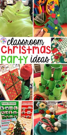Classroom Christmas Party - Pocket of Preschool - Pocket of Preschool - Classroom Christmas Party - Pocket of Preschool Christmas classroom party ideas - quick, easy, and dollar store finds! for preschool, pre-k, or lower elementary. Christmas Themes, Christmas Holidays, Christmas Crafts, Christmas Kitchen, Preschool Christmas Activities, Kindergarten Party, Kindergarten Christmas, Preschool Classroom, Winter Activities