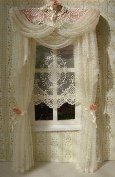 Miniature 1:12 Dollhouse curtains by TanyaShevtsova on Etsy
