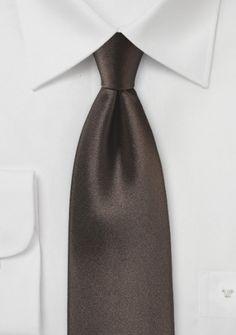 Krawatte Satinglanz mokkabraun